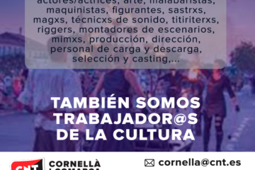 Trabajadores y trabajadores de la cultura y del espectáculo, profesiones intermitentes.